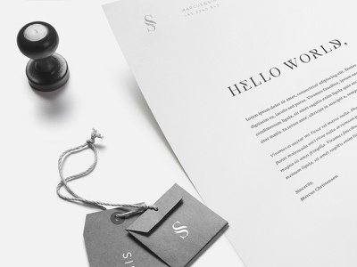 Simplico   Danish Developers brieving paper business cards logo mockup branding simplico