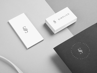 Simplico | Danish Developers simplico mockup logo business cards brieving paper branding