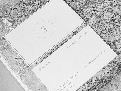 Simplico | Danish Developers simplico mockup logo business cards brieving paper branding