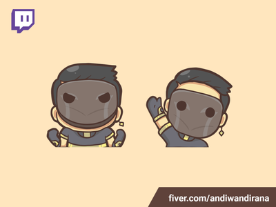 Cute twitch emote illustration twitch emote addorable cute kawai