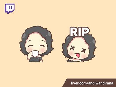 Cute Twitch Emote cute art commision emotestwitch kawaii twitch emotes kawaii cute