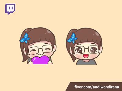 Cute twitch emote kawaii art commissions twitchemotes cute illustration kawaii cute
