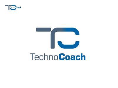 TechnoCoach Logo Exploration c black minimal grid branding monogram logodesign design logo