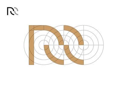 RR Research r black minimal grid branding monogram logodesign design logo