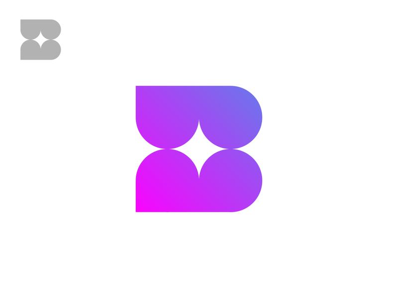 B / Exploration b black minimal grid branding monogram logodesign design logo