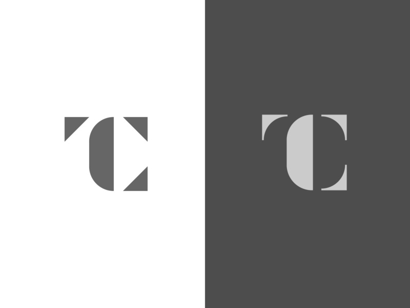 TC Exploration c t black minimal grid branding monogram logodesign design logo