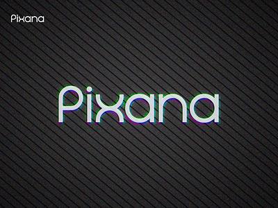 Pixana Logotype black minimal grid branding logodesign design logo