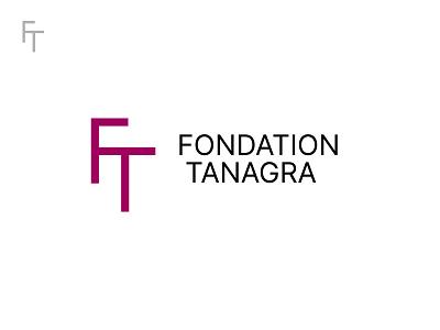 Fondation Tanagra typography t f black minimal grid branding monogram logodesign design logo