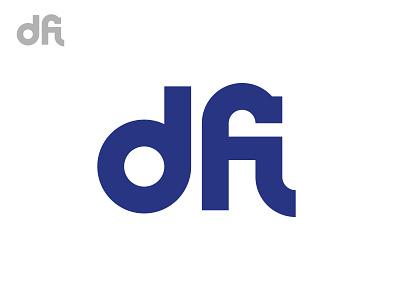 dfi / Monogram f d i black minimal grid branding monogram logodesign design logo