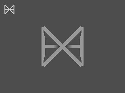 X H / Monogram x h black minimal grid branding monogram logodesign design logo