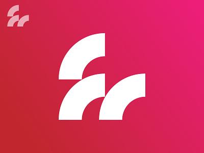 fm / Research m f black minimal grid branding monogram logodesign design logo