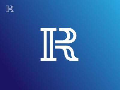 I R Monogram r i minimal grid branding monogram logodesign design logo