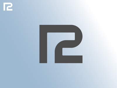 R2 Monogram Research 2 r grid minimal branding monogram logodesign design logo
