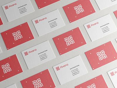 Corp. ID Research on Pixana grid branding monogram logodesign design logo