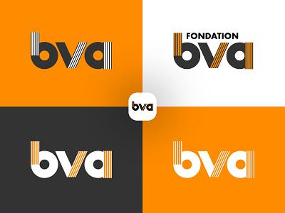 Fondation BVA Logo Research bva a v b minimal grid branding monogram logodesign design logo