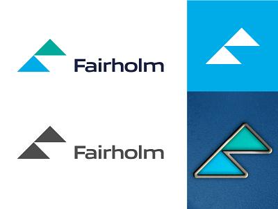 Fairholm project logo f minimal grid branding logodesign logo