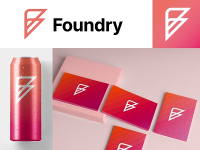 Foundry logo research minimal grid branding logodesign design logo