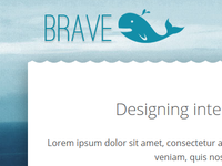 Brave Whale Logo