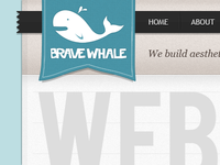 Brave Whale Logo & header