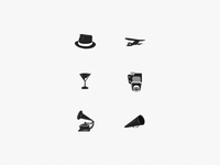 Custom vintage icons from photos