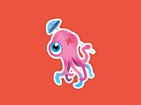 Octopus Sticker design