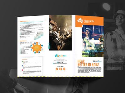 HearSafe Brochure Design service professional probrochure logo brochure design brochure template brochure mockup brochure layout brochure design advertisement