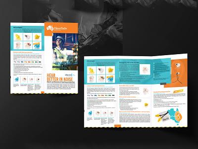 HearSafe Brochure Design professional service creative logo brochure design brochure template brochure mockup brochure layout brochure design advertisement