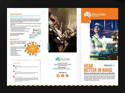 HearSafe Brochure Design branding ads noise pofessional logo brochure design brochure template brochure mockup brochure layout brochure design advertisement