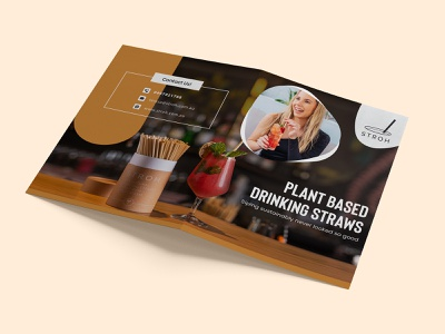 Stroh Brochure Design plant siping drink straw logo illustration brochure design brochure template brochure mockup brochure layout brochure design advertisement