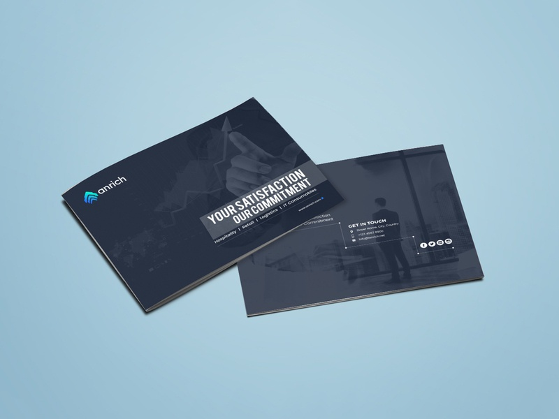 Anrich Brochure Design brochure layout brochure mockup brochure template design typography illustration brochure design brochure branding advertisement advertise