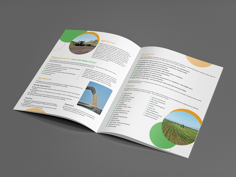 Walter Farms Brochure Design farms brochure mockup brochure design brochure layout brochure brochure template design typography advertisement branding illustration advertise