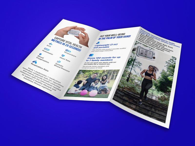Capture Vital Health brochure design branding illustration typography brochure template brochure mockup brochure layout brochure design advertisement advertise