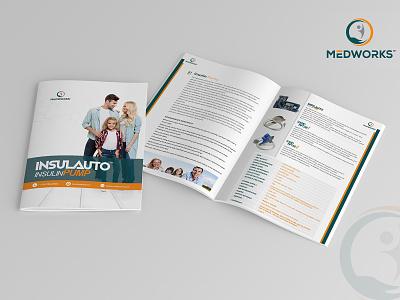 Insulauto Insulin Pump brochure brochure design brochure layout brochure template design branding brochure mockup illustration advertisement advertise