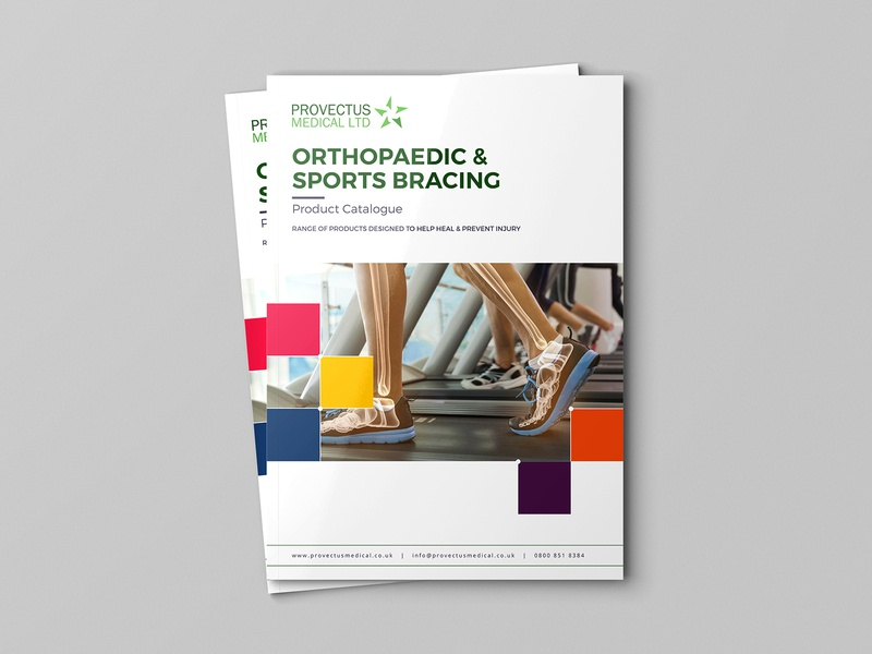 Orthopaedic And Sports Bracing brochure brochure mockup brochure layout advertisement brochure template design illustration typography branding brochure design advertise