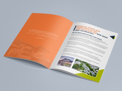 New Ideas And Technology brochure brochure design brochure layout brochure mockup design branding illustration typography brochure template advertisement advertise