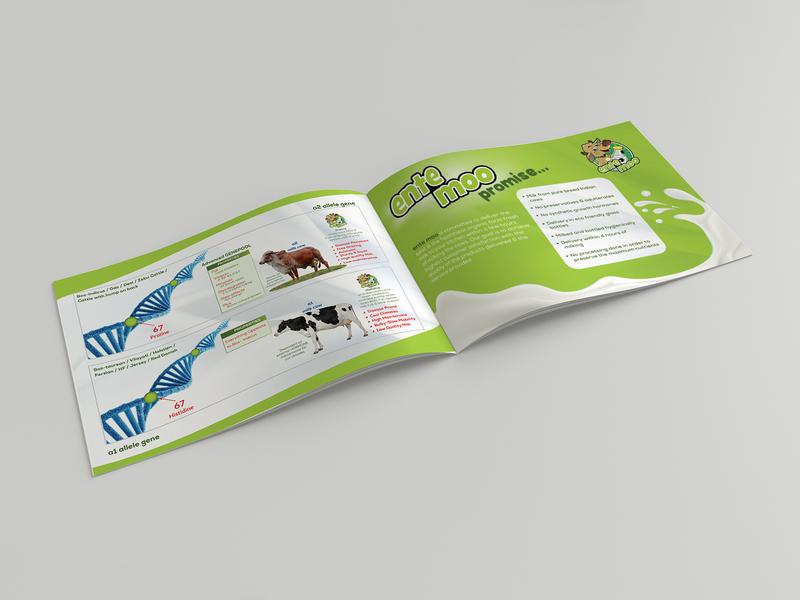 Ente Moo Promise Brochure Design brochure advertisement brochure design brochure template brochure layout typography illustration design branding advertise brochure mockup