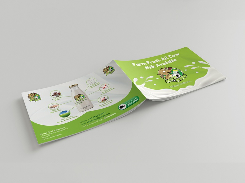 Fresh Milk Available brochure advertisement brochure mockup brochure layout brochure design design branding illustration brochure template advertise