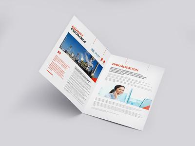 Quality Assurance Brochure Design advertise design brochure brochure template brochure mockup brochure layout brochure design advertisement