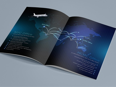 NYC  and HCMC Office Brochure Design advertise design brochure brochure template brochure mockup brochure layout brochure design advertisement