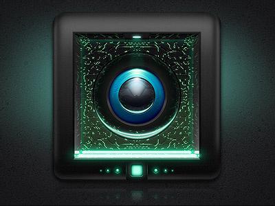 Internet bundle icon internet icon bundle green neon sci-fi scifi tech cyan button globe led