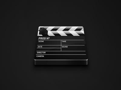 Cut icon cut cinema icon slick gloss riskmedia