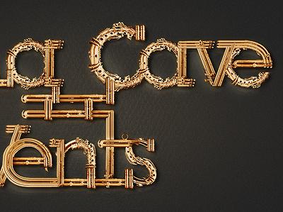 Cav - Type Illustration cave vent brass steel saxo saxophone type illustration lubalin slab serif
