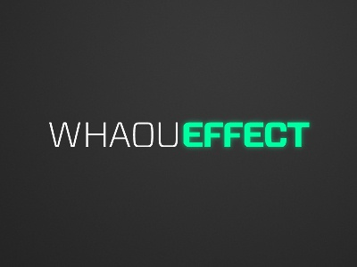 Whaou Effect Logo whaou space 80s sci-fi turquoise vitesse