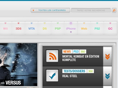 Jeuxvideo.com redesign jeuxvideo jeux video redesign orange teal gloss light games videogames