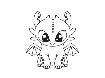 Toothless dragon animation vector illustration illustrator dragon toothless