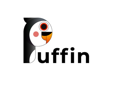 Puffin vector illustration illustrator letter p puffin