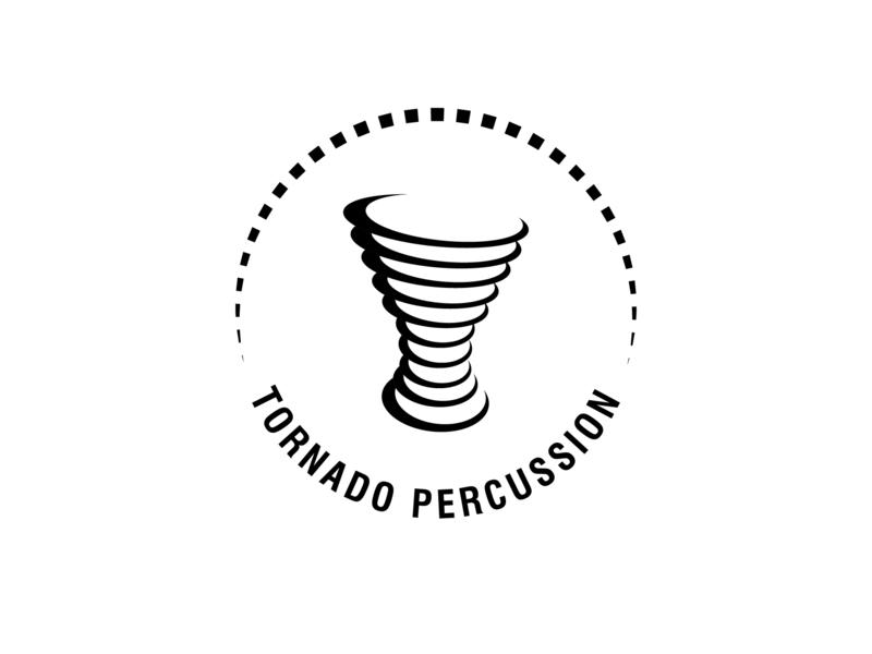 Tornado Percussion mondaylogochalenge percussion tornado logomark logocore logodesign logoinspiration logo