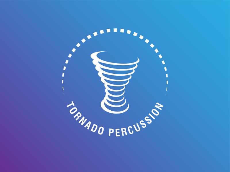 Tornado Percussion mondaylogochalenge percussion tornado logoidea logomark logoconcept logoinspiration logo design logotype logo