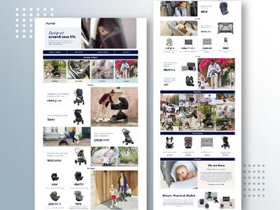 EComm Brand Landing Page ui design ui web design layout design web layout landing page ui web page designs brand landing page landing page design landing page