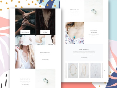 Jewellery Page Design